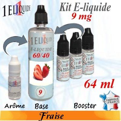 E-liquide-Fraise-9mg 60/40