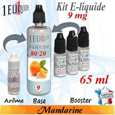 E-liquide-Mandarine-9mg 80/20