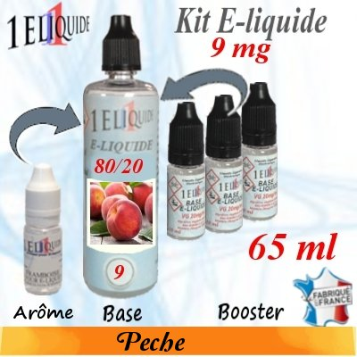E-liquide-Pêche-9mg 80/20